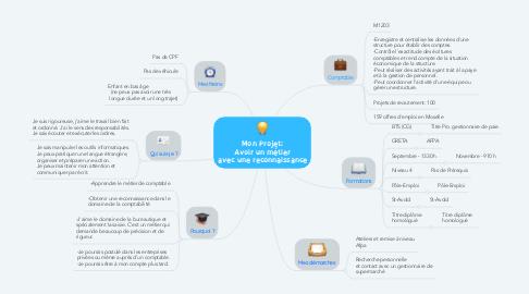 Mind Map: Mon Projet: Avoir un métier avec une reconnaissance