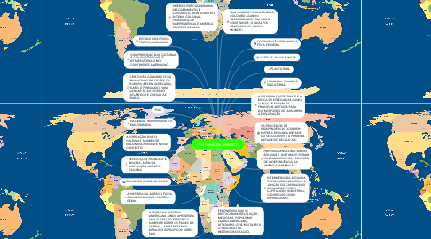 Mind Map: HISTÓRIA DA AMÉRICA
