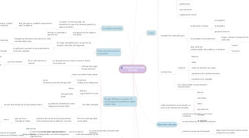 Mind Map: PENSAR EN NUESTRA CULTURA