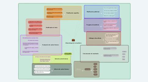 Mind Map: Metodología de la Auditoría