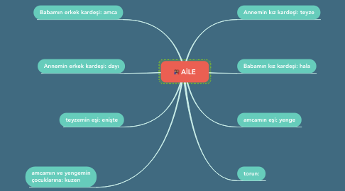 Mind Map: AİLE