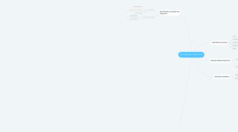 Mind Map: GESTIÓN DEL PROYECTO