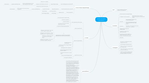 Mind Map: gestion de classe participative