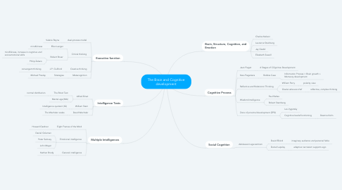 Mind Map: The Brain and Cognitive development