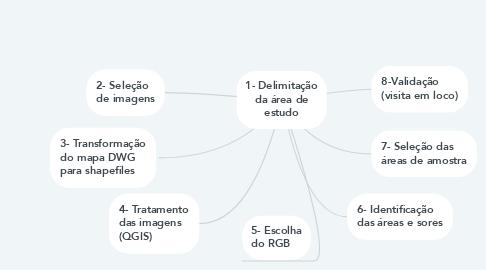 Mind Map: 1- Delimitação da área de estudo