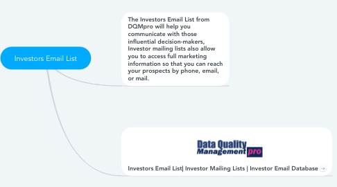 Mind Map: Investors Email List