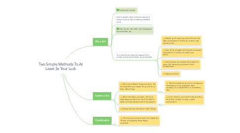 Mind Map: Two Simple Methods To At Least 3x Your Luck