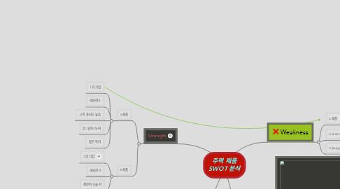 Mind Map: 주력 제품 SWOT 분석