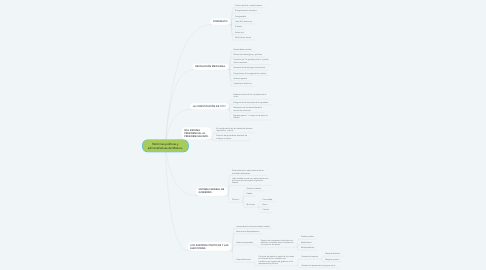Mind Map: Reformas políticas y administrativas de México.