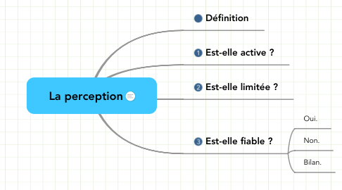 Mind Map: La perception