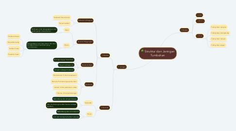 Mind Map: Struktur dan Jaringan Tumbuhan