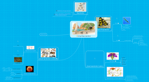 Mind Map: Living things reproduce