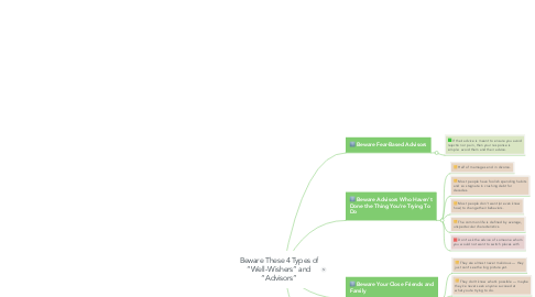 "Mind Map: Beware These 4 Types of ""Well-Wishers"" and ""Advisors"""