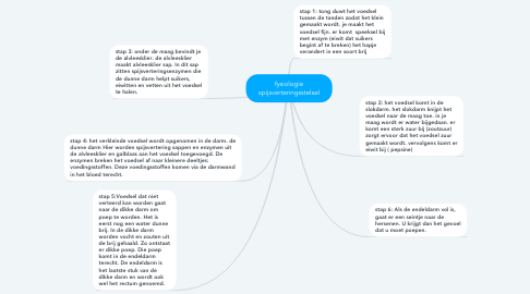 Mind Map: fysiologie spijsverteringsstelsel