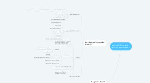 Mind Map: začínající živnostníci,  malé a střední firmy