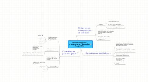 Mind Map: Professionnaliser son encadrement par l'élaboration d'un portfolio