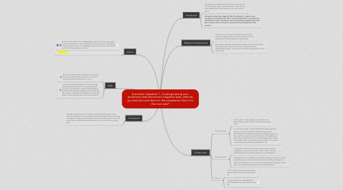 Mind Map: Evaluation Question 7 - Looking back at your preliminary task (the school magazine task), what do you feel you have learnt in the progression from it to the main task?