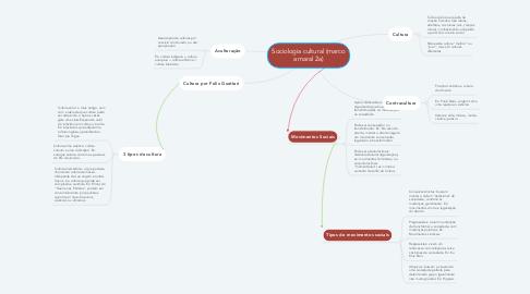 Mind Map: Sociologia cultural (marco amaral 2a)