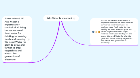 Mind Map: Why Water is Important