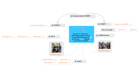Mind Map: Examen 3.1. Werkt aandeskundigheidsbevorderingen professionalisering vanhet beroep.           Maartjevan de Wouw OAO3E