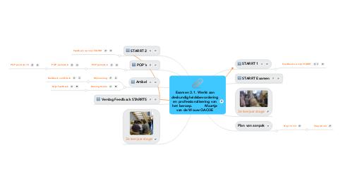 Mind Map: Examen 3.1. Werkt aan deskundigheidsbevordering en professionalisering van het beroep.           Maartje van de Wouw OAO3E
