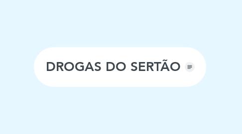 Mind Map: DROGAS DO SERTÃO