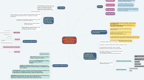 Mind Map: BIOSEGURIDAD, MATERIAL Y EQUIPO DE LABORATORIO DE BIOTECNOLOGÍA