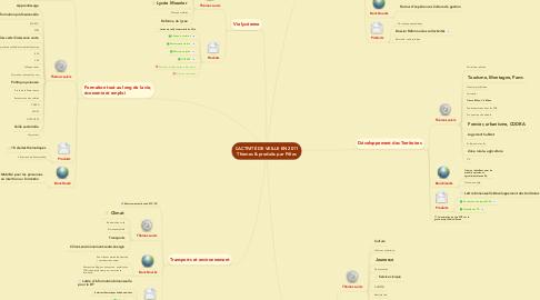 Mind Map: L'ACTIVITÉ DE VEILLE EN 2011 Thèmes & produits par Pôles