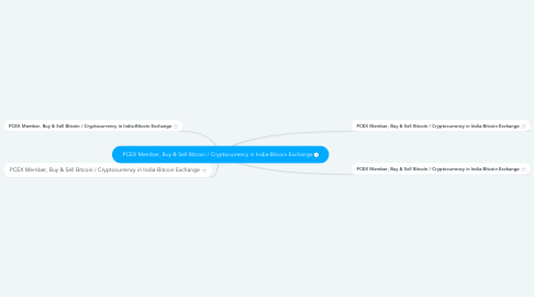 Mind Map: PCEX Member, Buy & Sell Bitcoin / Cryptocurrency in India-Bitcoin Exchange
