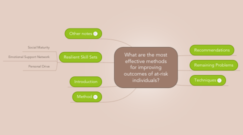 Mind Map: What are the most effective methods for improving outcomes of at-risk individuals?