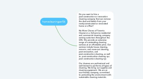 Mind Map: homecleaningser56