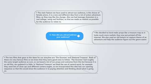 Mind Map: 5. How did you attract/address your audience?