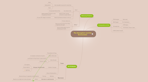 Mind Map: The Atmosphere and the Environment