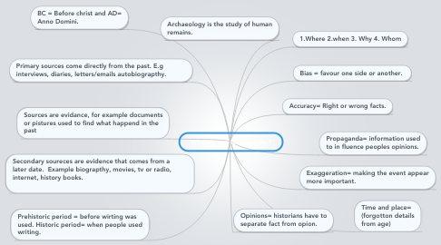 Mind Map: What does a historian do ?