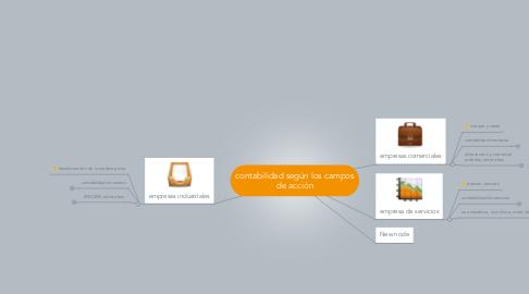 Mind Map: contabilidad según los camposde acción