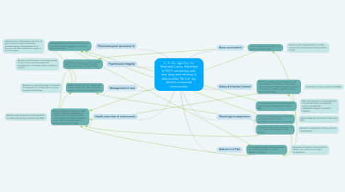 Mind Map: E. A.-Q., age 4 w, Hx Neonatal Lupus, Admitted 4/10/21: worsening rash, very fussy and refusing to take bottles, Wt 3.61 kg, Mother at bedside continuously