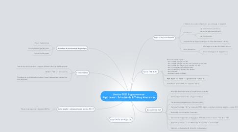 Mind Map: Service TICE & gouvernance Rapporteur : Saida Mraihi & Thierry Koscielniak