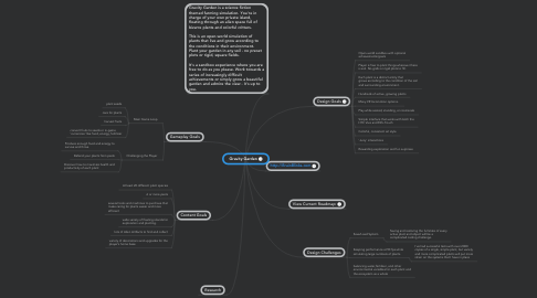 Mind Map: Gravity Garden