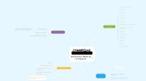Mind Map: Afectaciones ANTES de la migración