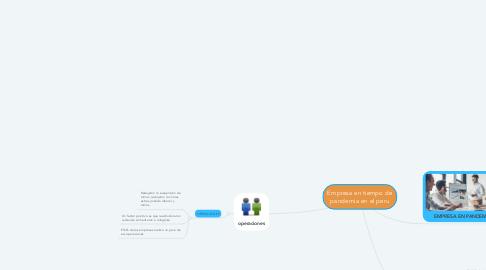 Mind Map: Empresa en tiempo de pandemia en el peru