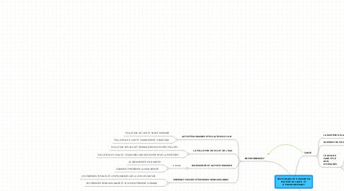 Mind Map: RESPONSABILITE HUMAINE ENMATIERE DE SANTE  ETD