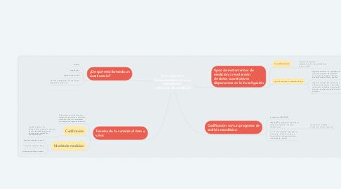 Mind Map: Tres cuestiones fundamentales para un instrumento  o sistema de medición