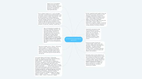 Mind Map: CONCEPTOS CONTABLES BASICOS