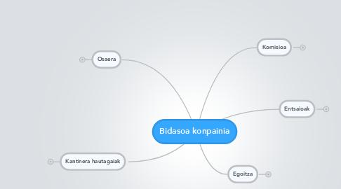 Mind Map: Bidasoa konpainia