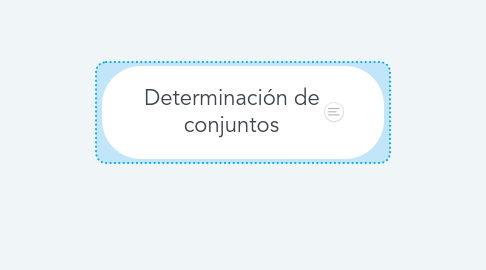 Mind Map: Determinación de conjuntos
