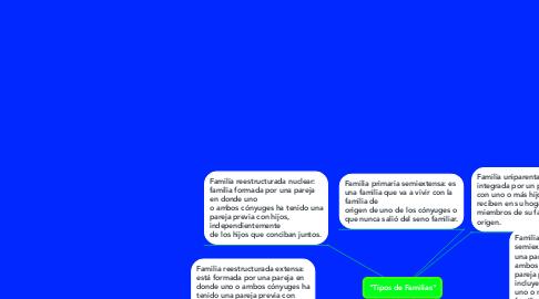 """Mind Map: """"Tipos de Familias"""""""