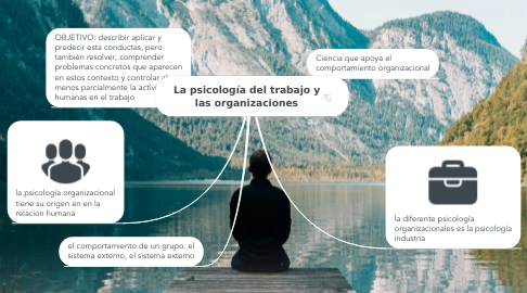 Mind Map: La psicología del trabajo y las organizaciones