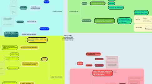 Mind Map: PARADIGMES PSICOLÒGICS DE L'ENSENYAMENT I L'APRENENTATGE