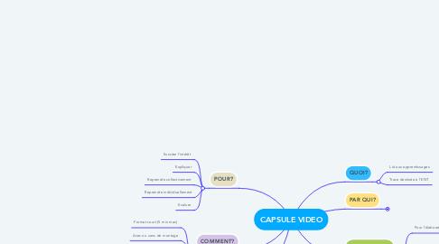 Mind Map: CAPSULE VIDEO