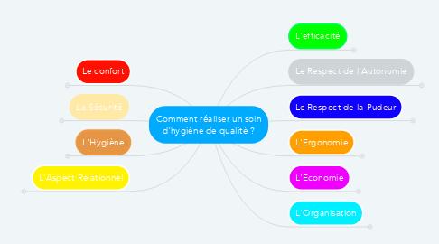 Mind Map: Comment réaliser un soin d'hygiène de qualité ?